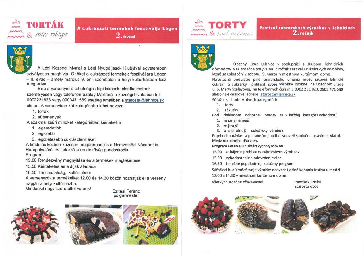 Festival cukrárskych výrobkov / A cukrászati terméket fesztiválja 1